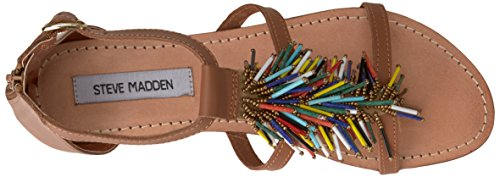 Steve Madden Womens Beadiee Flat Sandal Bright/Multi