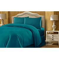 Taraf 250 Thread Count 3 Piece Sheet Set - King Size (200 X 220 Cm) - Teal (Green)