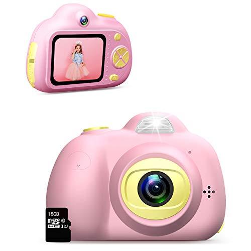 Dreamingbox Spielzeug für Mädchen 3-10 Jahre,Digitalkamera für Kinder ab 3-10 Jahre Mädchen Geschenk Geburtstagsgeschenk für Mädchen 3-10 Jahre Mädchen Spielzeug 3-10 Jahre (Rose)