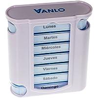 Preisvergleich für VANLO Pillendose Tower 7 Tage mit 4 Fächern pro Tag, Pillenbox,Tablettendose, Wochendosierer, Medikamentenbox...