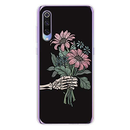 12eve Slim Case Kompatibel mit Xiao mi Mi 9 Ultradünne Silikon Schädel Muster Trick or Treat Halloween Limited Schutzhülle für Mi 9 Mobile (9 2019 Halloween)