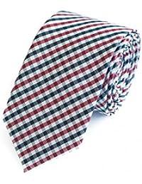 Krawatte von Fabio Farini kariert rot grau schwarz