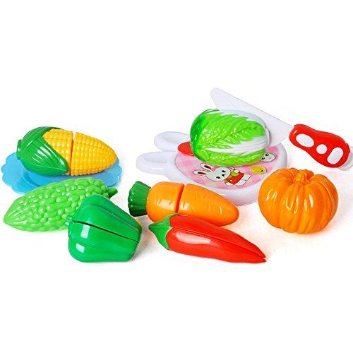(hou zhi liang Küchen-Spielzeug zum Verschönern von Spielen, 10 Stück, für Küche und Kinder, Lernspielzeug für Kleinkinder, Kunststoff, Kinder, zum Schneiden von Geburtstag, Party, Küche, Essen)