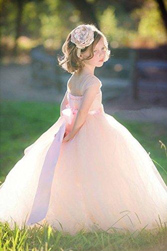 CoCogirls - Robe - Trapèze - Femme blanc Weiß Taille Unique Rose