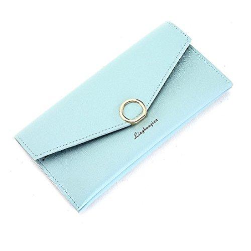 Portafoglio Donna, Tpulling Portafogli donna Portafoglio grande capacità carta tenere borse lunghe (Pink) Green