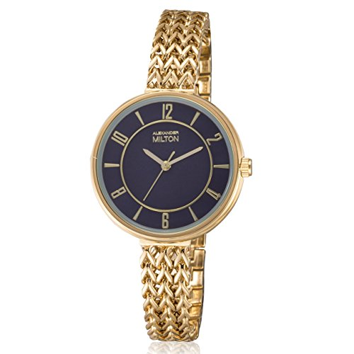 ALEXANDER MILTON - montre femme - MINERVA, dore/noir