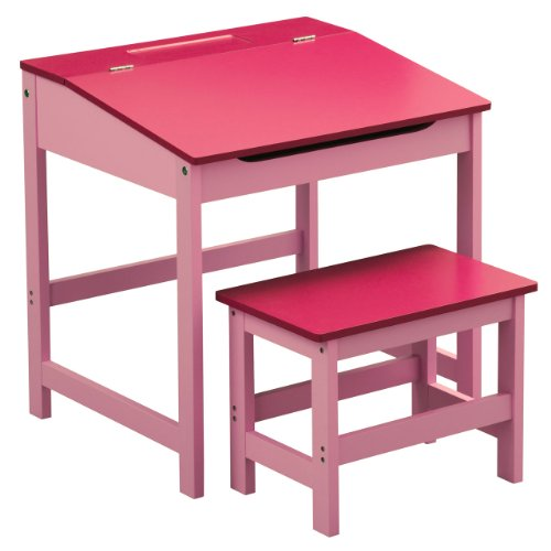 CHILDRENS PINK DESK AND CHAIR SET