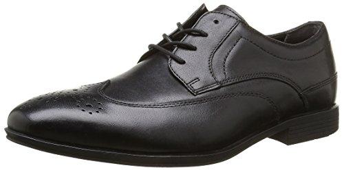 Rockport - Styleconnected Wing Tip, Scarpe stringate Uomo Nero (Nero (Black Leather))