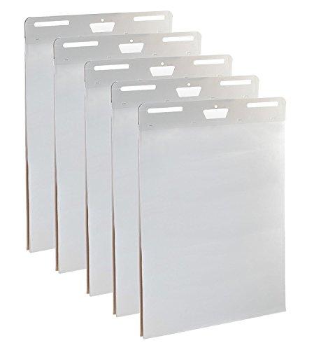 5er Pack Premium selbstklebend Staffelei Pads-63,5x 76,2cm, 30Blatt pro Block-dickes Papier, Heftklammern, Strong Sticky Staffelei Pads (Chart-papier Sticky)