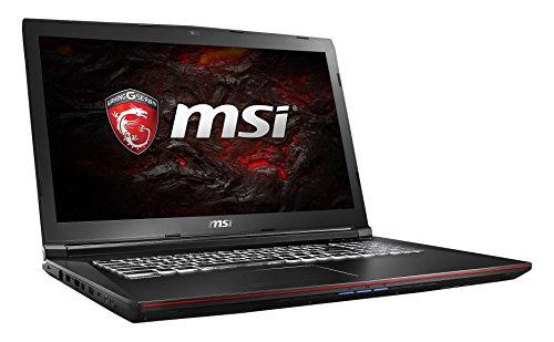 MSI GP72VR 7RF-268DE Leopard Pro (43,9 cm/17,3 Zoll) Gaming-Notebook (Intel Core i7-7700HQ 16GB RAM, 1 TB HDD + 256 GB SSD, Nvidia GeForce GTX 1060, Windows 10 Home) schwarz GP72