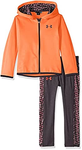 Under Armour Little Girls' Active Hoodie and Legging Set, After Burn, 5