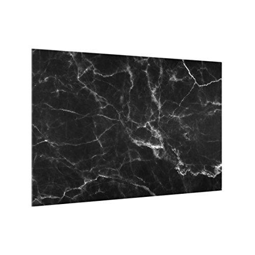Spritzschutz-Glas Marmor Optik schwarz 40 x 60cm Sicherheitsglas Paneele Optik-glas