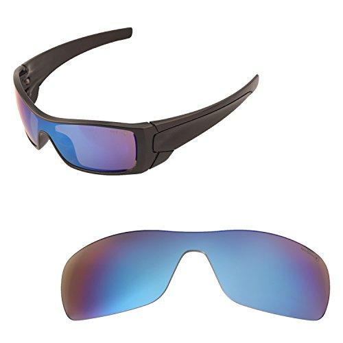 Walleva Ersatzgläser für Oakley Batwolf Sonnenbrillen - 20 Optionen erhältlich, Herren, Ice Blue Coated - Mr. Shield Polarized