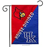 ASKYE Louisville & Kentucky House Divided Suede Garden Flag Double Sided for Party Outdoor Home Decor(Size: 12.5inch W X 18 inch H)