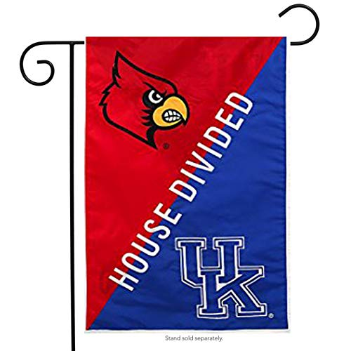 House Divided T-shirts (ASKYE Louisville & Kentucky House Divided Suede Garden Flag Double Sided for Party Outdoor Home Decor(Size: 12.5inch W X 18 inch H))