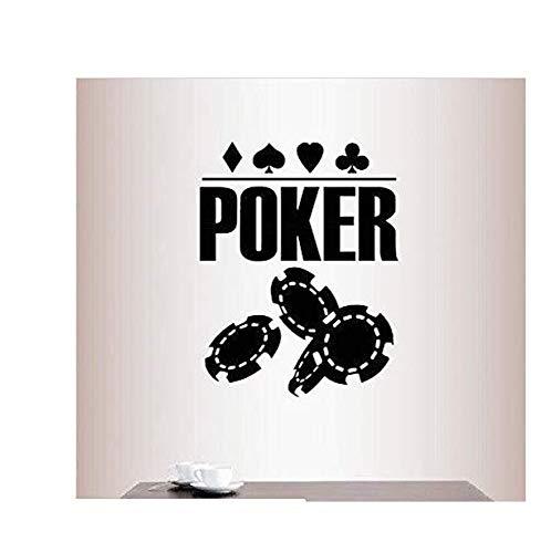 Wandaufkleber Mit Abnehmbar Vinyl Aufkleber Poker Poster Chips Karten Kostüme Casino Spiel Wandkunst Aufkleber 40 * 51 Cm (Chips Kostüm)