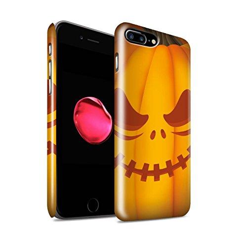 STUFF4 Glanz Snap-On Hülle / Case für Apple iPhone 8 Plus / Böse Muster / Halloween Kürbis Kollektion Unheimlich