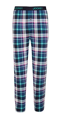 Jockey-cotton-hose (Jockey® Pant Knit, Blau kariert, Größe L)