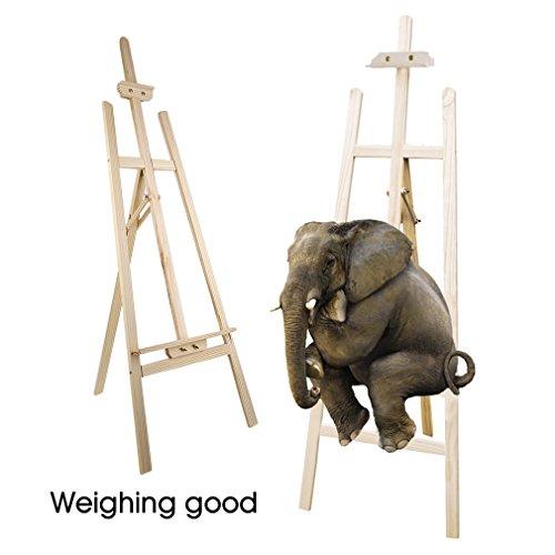 Akademie-Staffelei Barcelona Buche-Holz Profi Künstler-Bedarf für Keilrahmen Größe bis 130cm mit Doppelauflage