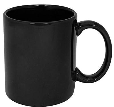 excitngLives Plain Black Ceramic Coffee Mug