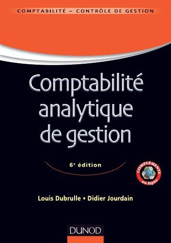 Comptabilit analytique de gestion - 6me dition