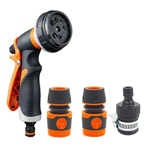 GuDoQi Garten Handbrause Hochdruckreiniger-Sprühpistole 8 Sprühwasser-Blume für die Gartenarbeit Autowäsche Haustier-Dusche
