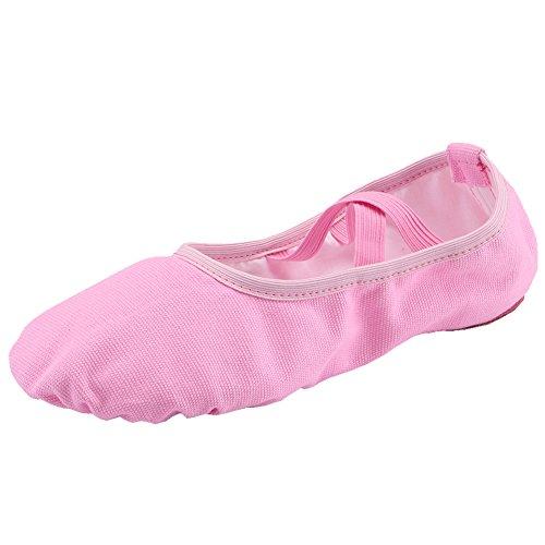 Ballettschläppchen Mädchen Ballerinas Tanzschuhe Damen Ballettschuhe Kinder Ballett Trainings Schläppchen Schuhe Pink Größe 29