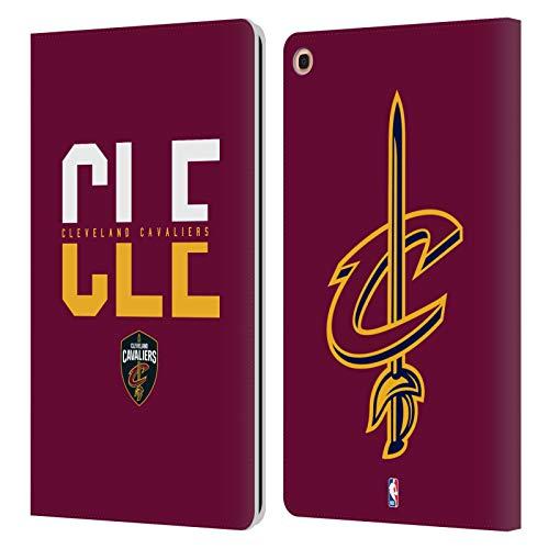 Head Case Designs Offizielle NBA Typographie 2019/20 Cleveland Cavaliers Leder Brieftaschen Huelle kompatibel mit Samsung Galaxy Tab A 10.1 2019 -