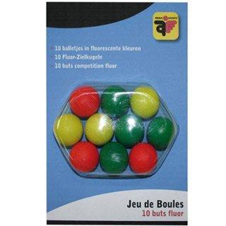 10 Boule-Bälle, fluoreszierend, für Wettkämpfe