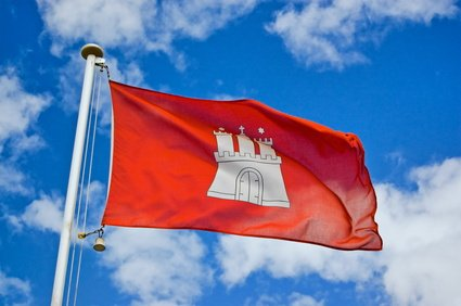 Landesflagge Hamburg Fahne Flagge 150x90 Wetterfest -
