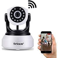 Sricam Cámara de vigilancia IP WiFi Interior inalámbrica 720P Cámara bebé con Visión Nocturna ...