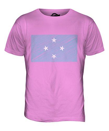 CandyMix Mikronesien Kritzelte Flagge Herren T Shirt Rosa