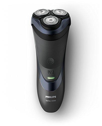 Philips SHAVER 3000 – rasoir (rasoir à rotation, Noir, Bleu, AC/batterie, batterie au Lithium-Ion, 50 min)