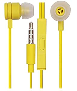 Jkobi 3.5mm In Ear Bud Handsfree Headset Earphones with MIC for Samsung Galaxy Note 5 / NOTE5-YELLOW