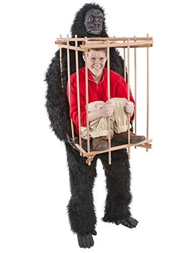 Gorilla & Cage Costume Fancy (Käfig Und Gorilla Kostüme)