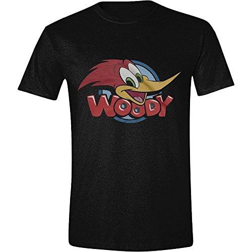 Woody Woodpecker - Banner Herren T-Shirt - Schwarz, Große:XL (Woody Shirt Herren)