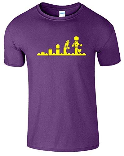 Evolution Legolution Herren Lustige Kurzarm Fancy T-Shirt Lila (Purple)