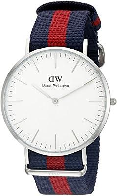 Daniel Wellington 0201DW - Reloj con correa de acero para hombre, color del dial blanco