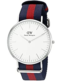 Daniel Wellington Herren-Armbanduhr XL Oxford Analog Quarz Nylon DW00100015