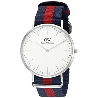 Daniel Wellington 0201DW – Reloj con correa de acero para hombre, color del dial blanco