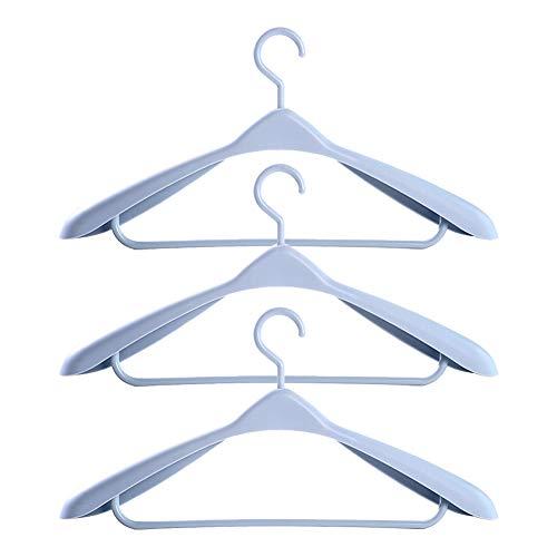 Breite Schulter Kleiderbügel (Fablcrew Hellblau Fettes Trockengestell aus Kunststoff Anti-Rutsch-Kleiderbügel für Erwachsene Nahtloser, breiter Schulter-Kleiderbügel 5er)
