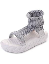 summer chaussures occasionnelles avec des semelles épaisses/Bottes fraîches en couleur solide open-toe