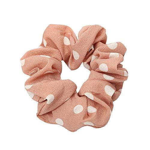 VJGOAL Damen Mädchen Mode Elegant Wellenpunkt Flexibilität Haarseilring Krawatte Schachtelhalm Haarband