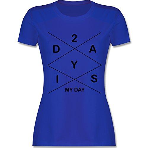 Statement Shirts - Today is my day Rautenmuster - tailliertes Premium T-Shirt mit Rundhalsausschnitt für Damen Royalblau
