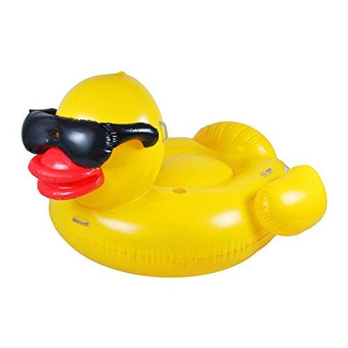 Ocean 5 XXL Ente Badeinsel 195 x 180 x 110 cm, aufblasbares Schwimmtier, Riesen Luftmatratze, Wasser-Liege, Pool-Lounge, Schwimmreifen als Schwimmtier für Kinder und Erwachsene ...