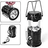 #8: Wyane Enterprises Newest Style Solar Lamp or LED Lalten Classic flashlight Camping Solar light for home, Rechargeable LED(6+1) Shop Light Portable Torch Outdoor Lighting