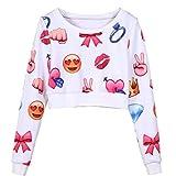 ELFIN® 3D Emoji Activewear Jungen Mädchen Jumper Pullover Pulli 3D Muster Langarm Shirt Sweatshirt Wintershirt Sweater Jogginghose Joggers Sweatpants 3D Printed Sport Hose