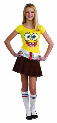 Rubies Kost-me 197375 SpongeBob M-dchen Teen -