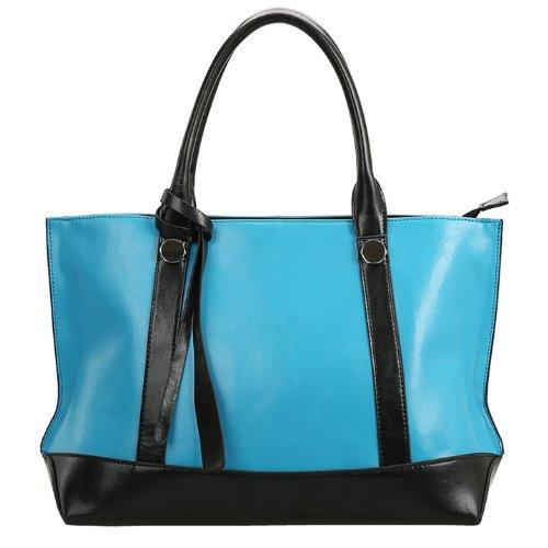 Valin Q0442 donna Borse a spalla,Borse a tracolla41x25x13 cm (B x H x T) Blue