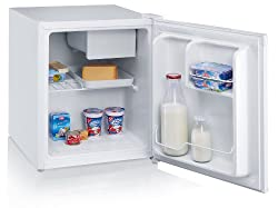 Severin KS 9827. Installazione: Libera installazione. Capacità netta frigorifero: 47 L, Emissione acustica: 42 dB. Numero di ripiani frigorifero: 1, Cerniera porta: Destra. Consumo energetico annuo: 113 kWh, Classe efficienza energetica: A+. Peso: 16...